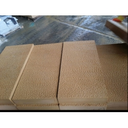 Beige sandstone tiles for wall cladding